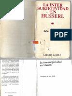 La Intersubjetividad en Husserl