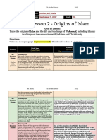 unit 1  lesson 2 - 7th grade - origins of islam -  malia