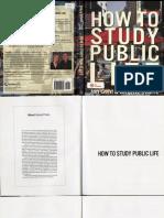 GEHL, J.; SVARRE, B. (2013) How to Study Public Life