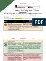 1  lesson 2 - 7th grade - origins of islam-weiner thomas segal