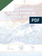 AyA Política Nacional de Agua Potable de Costa Rica 2017-2030