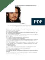 Lee Este Reportaje Sobre El Actor Orlando Bloom y Marca La Alternativa Correcta