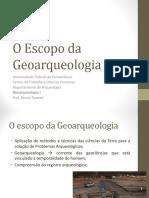 Geoarqueologia e Ciências Da Terra