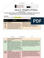 unit 1  lesson 2 - 7th grade - origins of islam - jordan malia ari