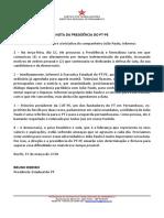 Nota da presidência do PT-PE