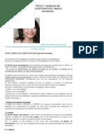 Tipos y Niveles de Investigación. Marisol Hernández