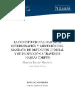 Derecho a La Libertad Comentarios Para Habeas Corpus y Variaciones de Detencion y Cesacion