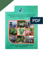 Pedoman Teknologi Formulasi Sediaan Bebasis Ekstrak Vol 1