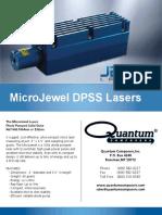 MicroJewel DPSS Laser Datasheet