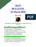 Bulletin 180315 (HTML Edition)
