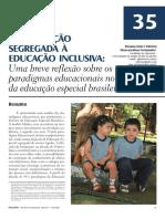 Da Educação Segregada à Educação Inclusiva