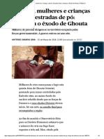 Síria _ Homens, Mulheres e Crianças a Pé Por Estradas de Pó_ Começou o Êxodo de Ghouta _ PÚBLICO