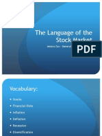 language of the stock market