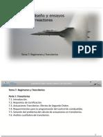 Aerorreactores Master - Tema 7 - Transitorios y Regímenes - V1