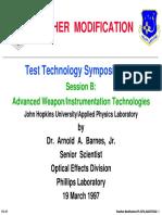 Weather Modification Test Technology Symposium 1997 USAF Dr Arnold a Barnes Jr