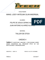 CASOS CONCRETOS DEL PROCEDER ÉTICO EN LAS INSTITUCIONES Y ORGANIZACIONES.