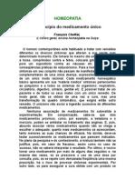 François Choffat, Dr - O princípio do medicamento único - A farmacopéia homeopática