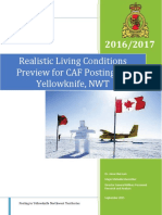 Realistic Living Conditions Yellowknife