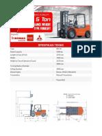 Spesifikasi Teknis Forklift 5 Ton