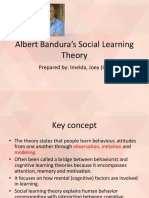 Bnadura's Social Learning Theory