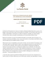 Papa Francesco 20140202 Omelia Vita Consacrata