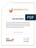 Content Marketing Certified Oscar Del Santo
