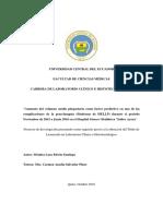 Tesis Ecuador Ciencias Medicas