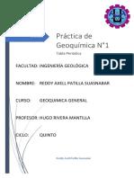 Práctica de Geoquimica No