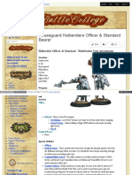 Battlecollege - Halberdier Officer Standard - Retribution Unit Attachment 1