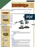 Battlecollege - Halberdier Officer Standard - Retribution Unit Attachment 1