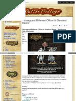 Battlecollege - Houseguard Riflemen Officer _ Standard Bearer - Retribution Unit Attachment
