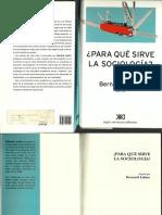 233387964 Para Que Sirve La Sociologia Bernard Lahire