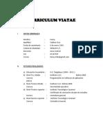 Curriculum Viatae Fanny Cadena Cruz