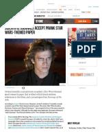 Scientific Journals Accept Prank Star Wars-Themed Paper - Breitbart