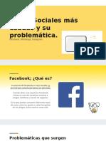 Redes Sociales Más Usadas y Su Problemática.