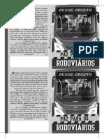 Folheto Evangelístico Paz para os Rodoviários - Preto e Branco