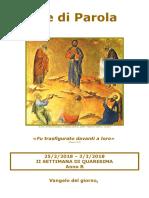 Sete di Parola - II settimana Quaresima - B.doc