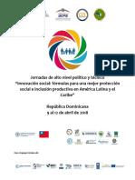 """Jornadas de alto nivel político y técnico """"Innovación social"""