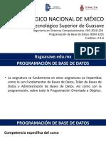PBD - Encuadre