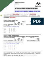 Horario Economia_12018 - Isolada e Eletiva
