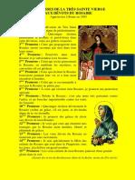 Les 15 Promesses de La Vierge Marie Aux Devots Du Rosaire