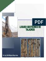 Logueo Taladros Geotécnico