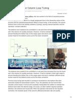 Automation.isa.Org-Primer Distillation Column Loop Tuning