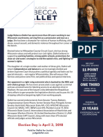Rebecca Dallet for WI Supreme Court One Pager