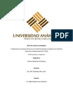 Análisis de Indicadores Sobre La Fluctuación en El Precio Del Elote