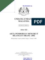 Akta 622 Akta Pemberian Mengikut Bilangan Orang 2002