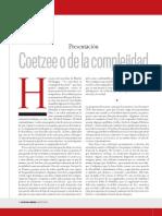 LL Coetzee o de La Complejidad