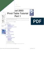 Pivot Table Tutorial 2003