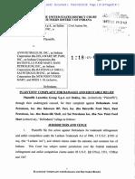 Luxottica Group Complaint