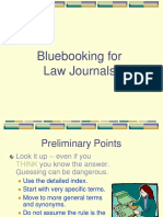 Bluebook for Journals